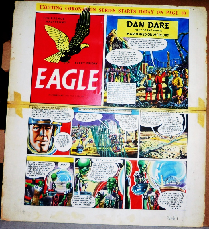 Marooned of Mercury !! Eagle N° 3 - 46 du 20 février 1953 by Frank Hampson, John Harold, Greta Tomlinson - Comic Strip