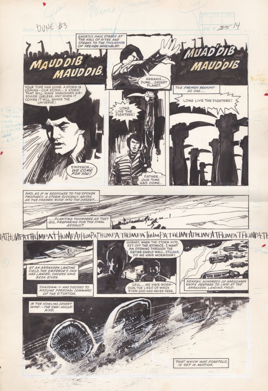 Dune #3 by Bill Sienkiewicz, Ralph Macchio, Frank Herbert, David Lynch - Comic Strip