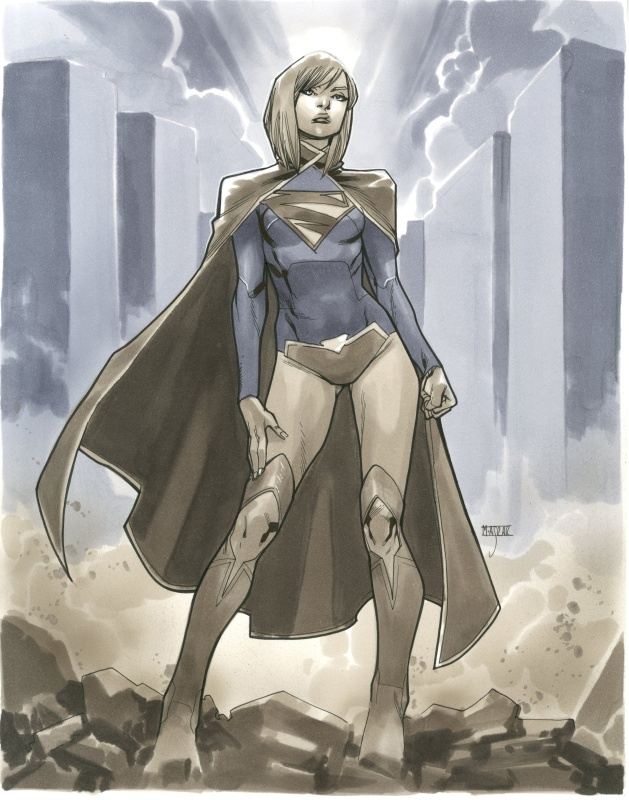 Supergirl by Mahmud Asrar - Illustration