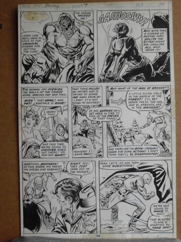 Doc savage par Ross Andru - Planche originale