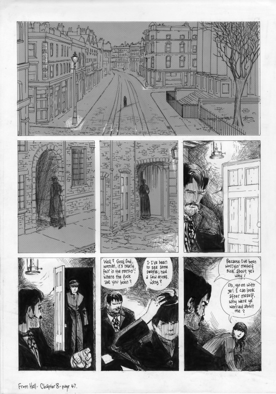 From Hell Ch 8, page 47 by Eddie Campbell, Alan Moore - Comic Strip