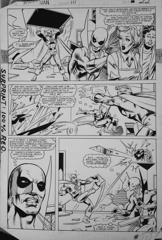 Power man and Iron Fist #111 by Greg Larocque, jerry Acerno - Comic Strip