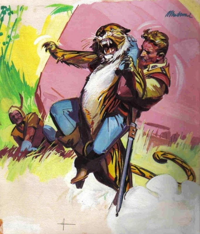Patoruzito n° 831, « Flash Gordon / La Tête du Tigre », 1961 by João Mottini - Illustration