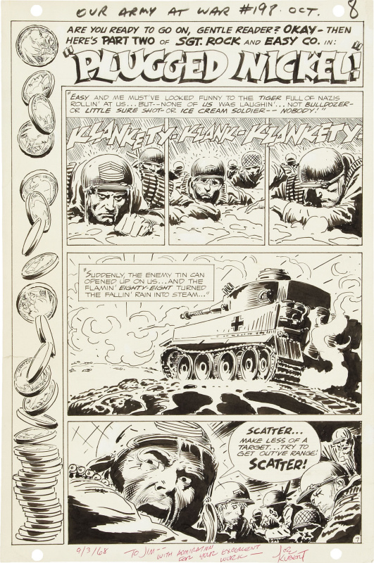Our Army at War 198. Sgt Rock by Joe Kubert - Comic Strip