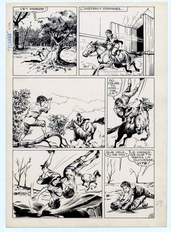 Flambo,  planche 26 - Bourask n° 29 (page 100), 1961, éditions Lug by Alessandro Biffignandi - Comic Strip