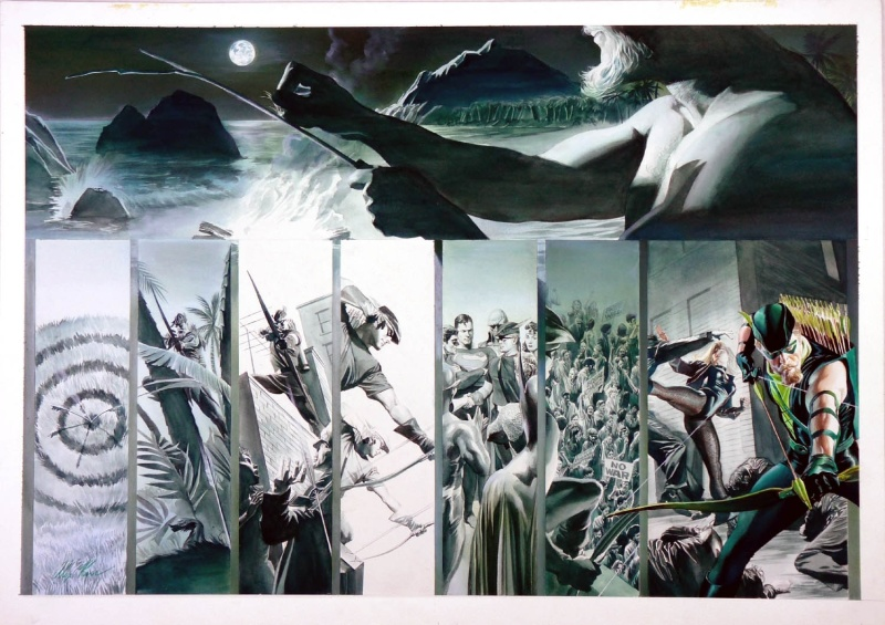Jla: Secret Origins - Green Arrow DPS by Alex Ross, Paul Dini - Comic Strip