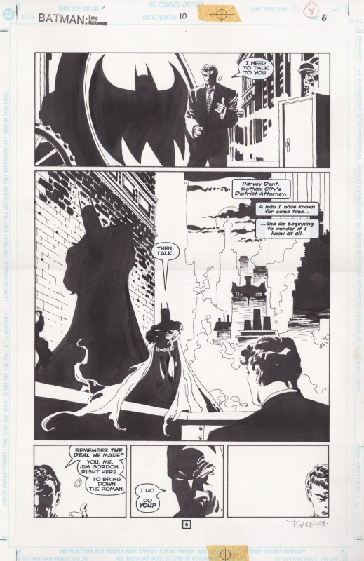 Batman: The Long Halloween #10 by Tim Sale, Jeph Loeb - Comic Strip