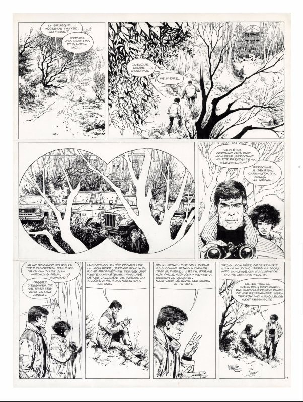 XIII, Là où va l'Indien, Planche originale 14 by William Vance, Jean Van Hamme - Comic Strip