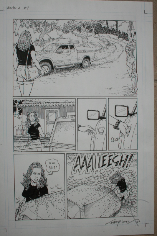 Terry Moore, Echo 2, page 4 by Terry Moore - Comic Strip