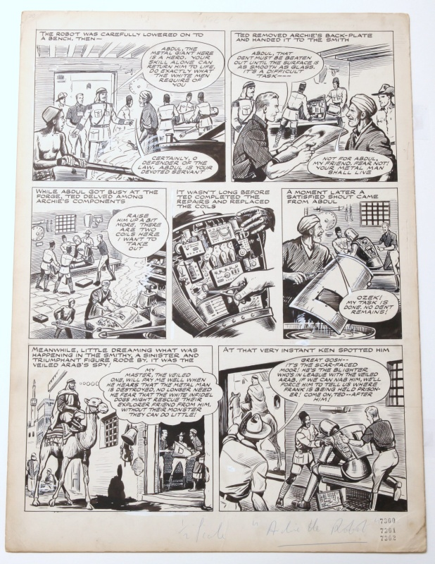 Robot Archie - The mystery of the veiled arab - by F.A. Philpott, A. Forbes - Comic Strip