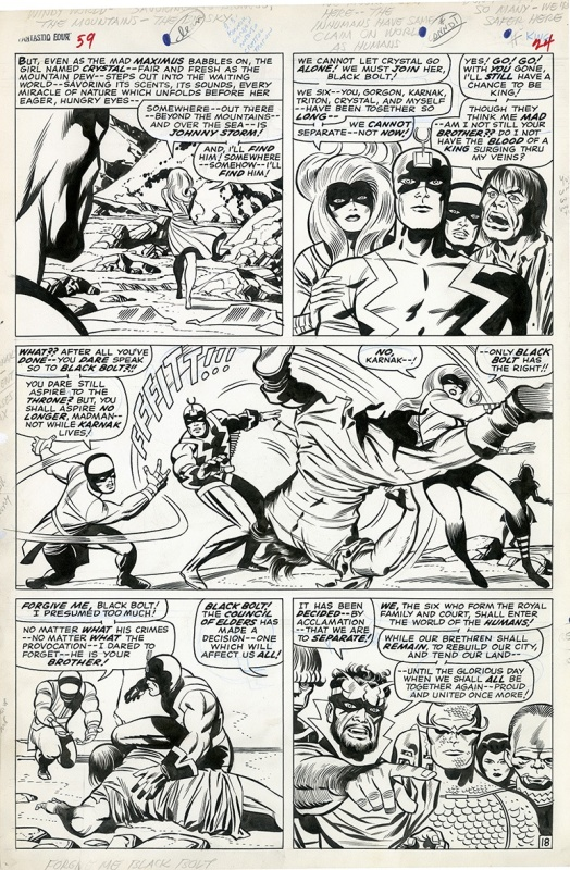 Fantastic Four #59 - Planche 18 by Jack Kirby, Joe Sinnott - Comic Strip