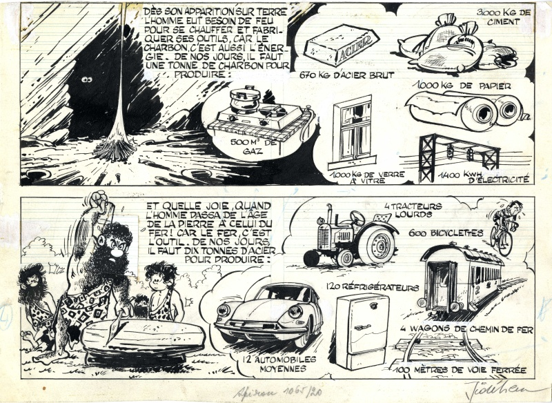 Robbedoes / Oom Wim - Spirou / Oncle Paul by André Franquin, Roba, Jidéhem - Comic Strip
