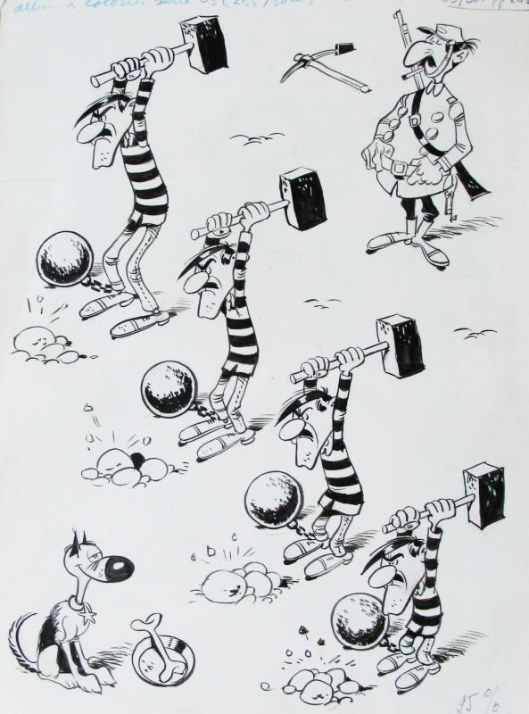 Lucky Luke Les Dalton Et Rantanplan Par Morris Illustration