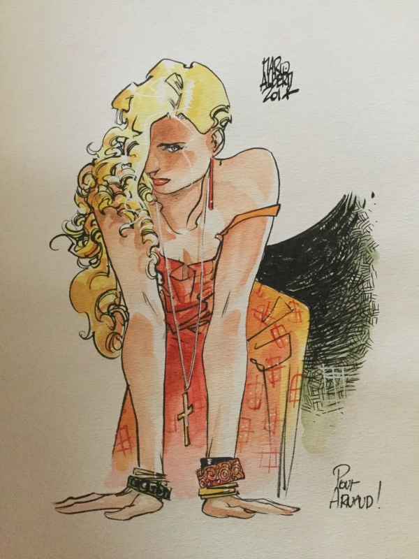 Alberti, pin up blonde by Mario Alberti - Illustration