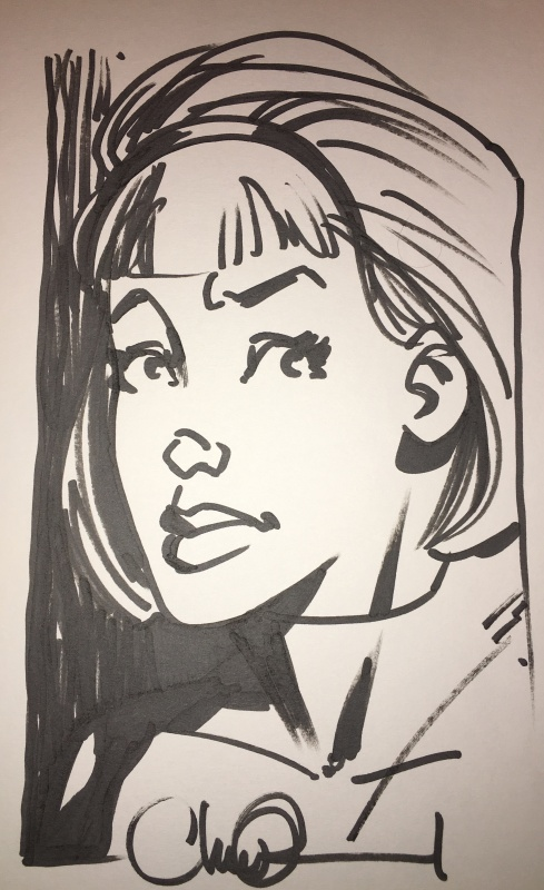 X Files by Charlie Adlard - Sketch