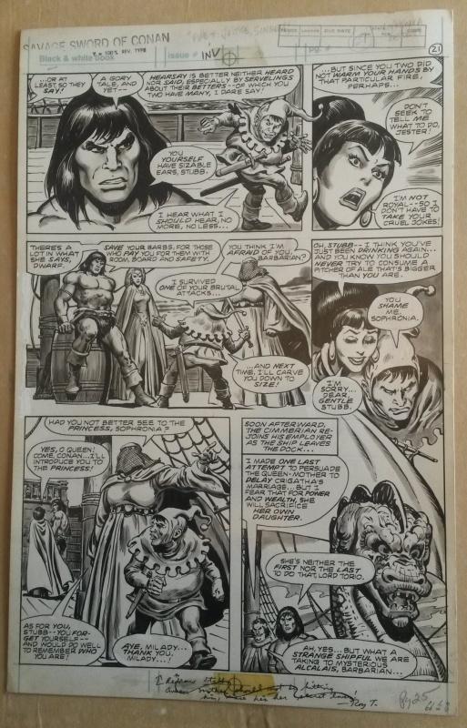 Richie Colon >> Planche originale 21 de Savage Sword Of Conan 66 by Ernie Colon - Comic Strip