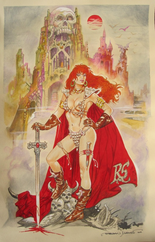 Red Sonja by Esteban Maroto - Illustration