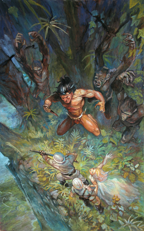 Tarzan by Régis Moulun - Illustration