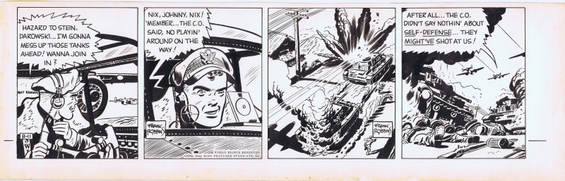 Johnny Hazard 1944 Daily by Frank Robbins par Frank Robbins - Planche originale