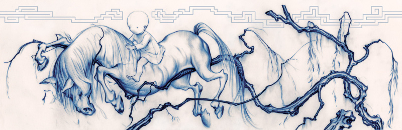 James jean parched horse par James Jean - Illustration