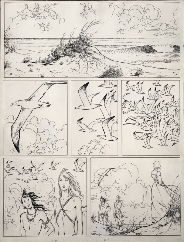1983 - Un Été Indien - P1 by Milo Manara, Hugo Pratt - Comic Strip