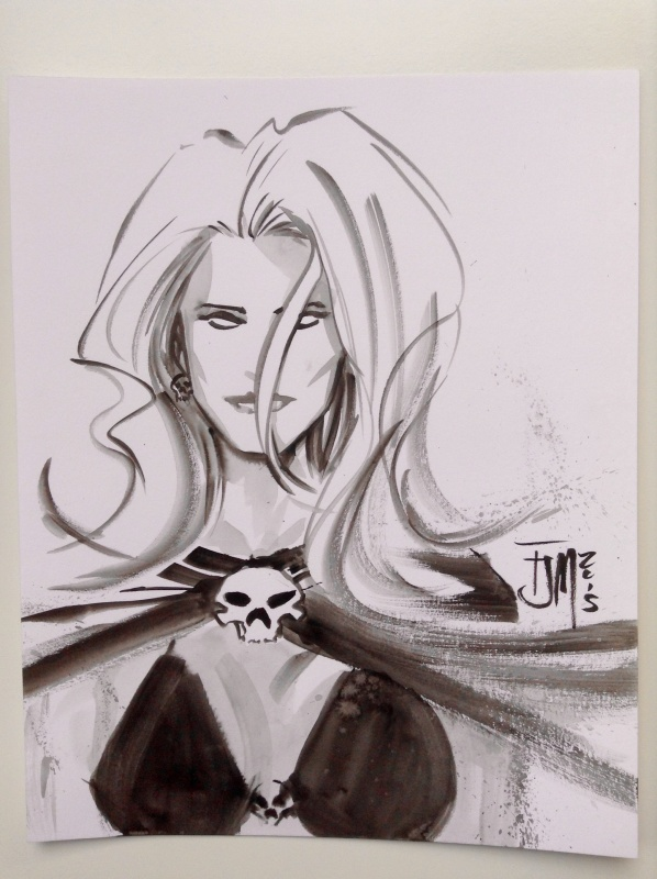 Lady Death by Francis Manapul - Sketch