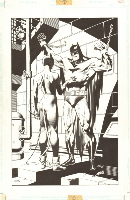 Nowlan: Batman Legends of the Dark Knight 50 pinup by Kevin Nowlan - Illustration