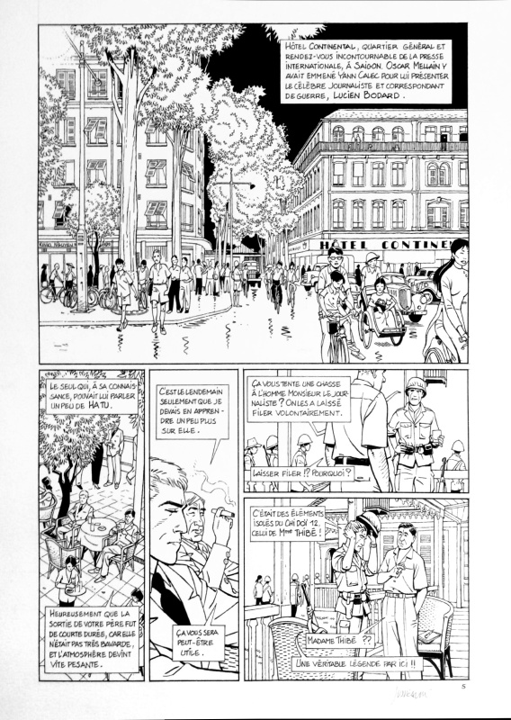 Tramp - La sale guerre (T8) - Planche 5 by Patrick Jusseaume - Comic Strip