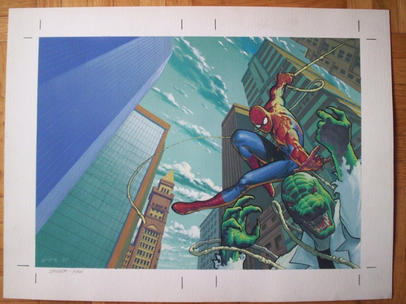 Spider-Man vs Lizard, Cover, Esad Ribic by Esad Ribic - Original Cover