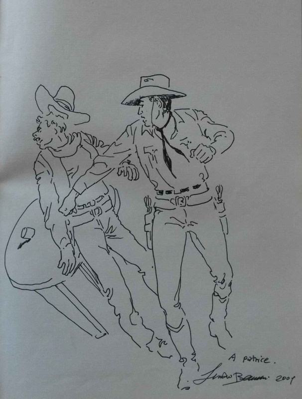 Tex Willer by Luciano Bernasconi - Sketch