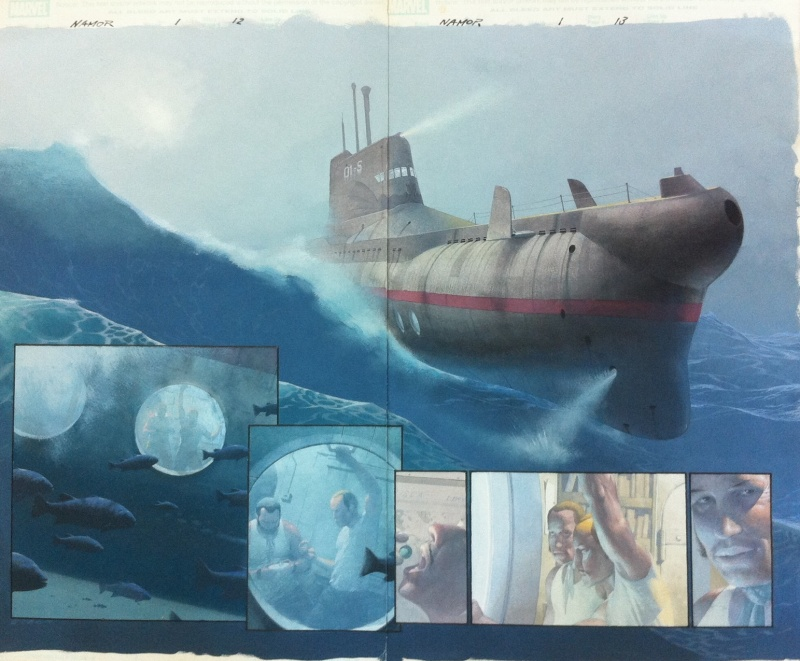 Namor / Sub-Mariner : The Depths - Issue 01 Pages 12 and 13 by Esad Ribic, Pete Milligan - Comic Strip
