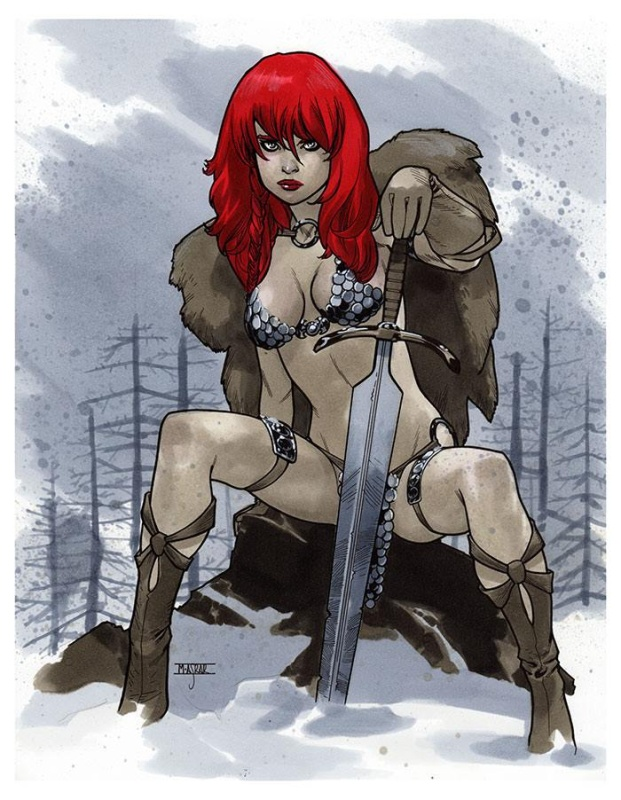 Red Sonja by Mahmud Asrar - Illustration