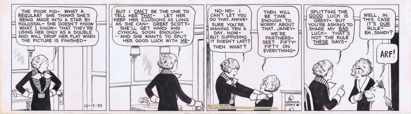 Little Orphan Annie Daily 1935 by Harold Gray by Harold Gray - Comic Strip