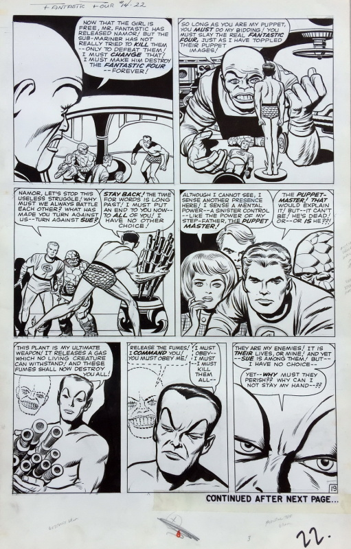 Fantastic Four - Issue 14, page 22  (TWICE-UP +) by Jack Kirby, Dick Ayers - Comic Strip