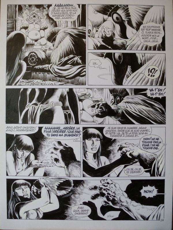 Quetzalcoatl tome 3 planche 24 by Jean-Yves Mitton - Comic Strip