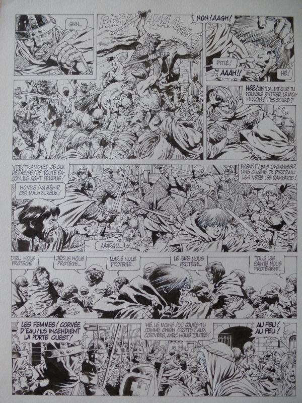 Chroniques Barbares tome 1 planche 25 by Jean-Yves Mitton - Comic Strip