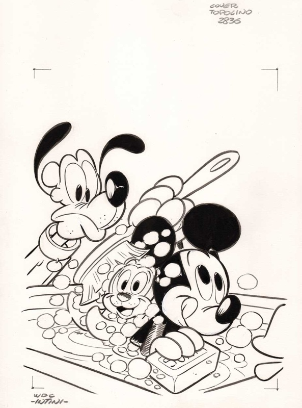 Topolino #2836 cover by Stefano Intini - Original Cover