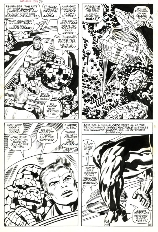 Fantastic Four # 76 p. 13. par Jack Kirby, Joe Sinnot - Planche originale