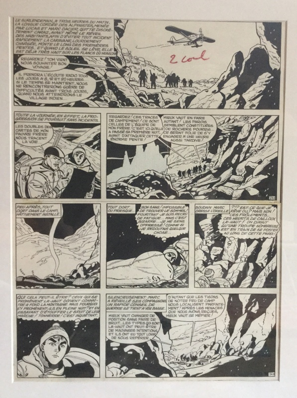 Marc Dacier , l'abominable homme des andes , Planche 25 by Eddy Paape - Comic Strip