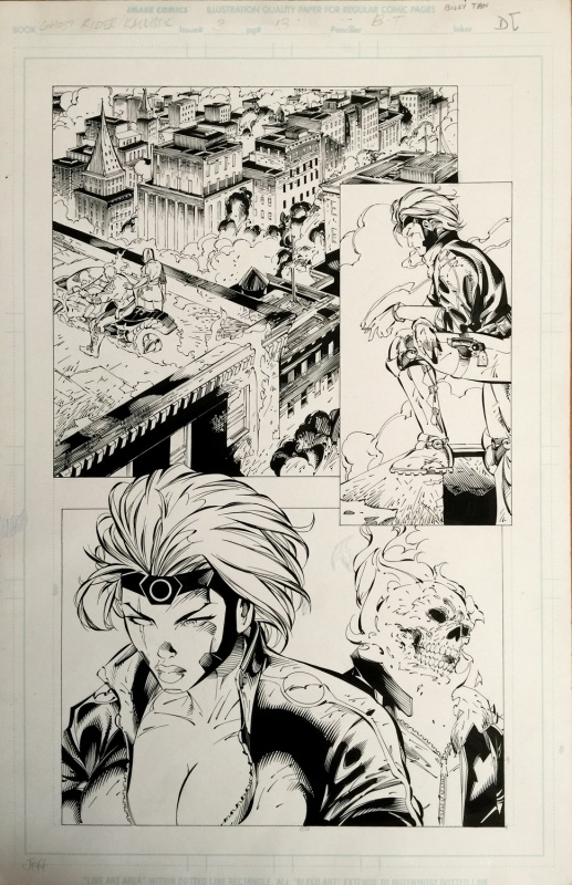 Ghostrider / Ballistic - issue 3, p 13 by Billy Tan, D-Tron - Comic Strip