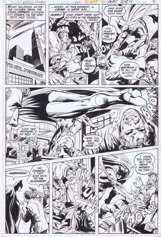 1979-11 Buckler/Giordano: World's Finest Comics #259 p2 Batman by Rich Buckler, Dick Giordano - Comic Strip