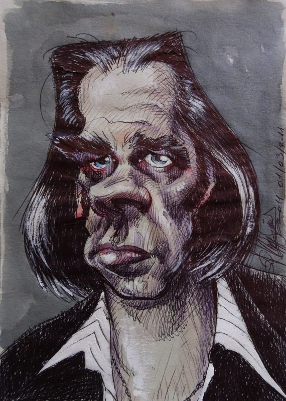 Nick Cave by Philippe Gürel - Illustration