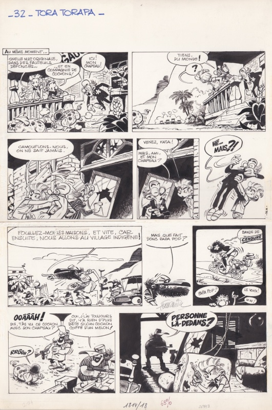Spirou et Fantasio - Tora Torapa by Jean-Claude Fournier - Comic Strip