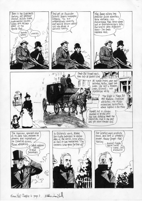 From Hell Ch 4, page 11 by Eddie Campbell, Alan Moore - Comic Strip