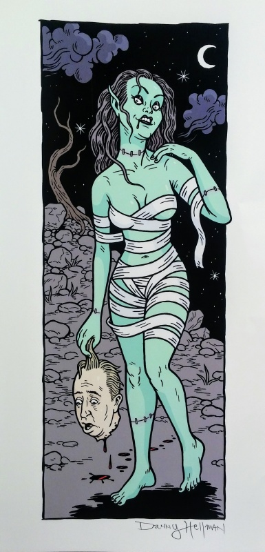 Femme Ghoul by Danny Hellman - Illustration