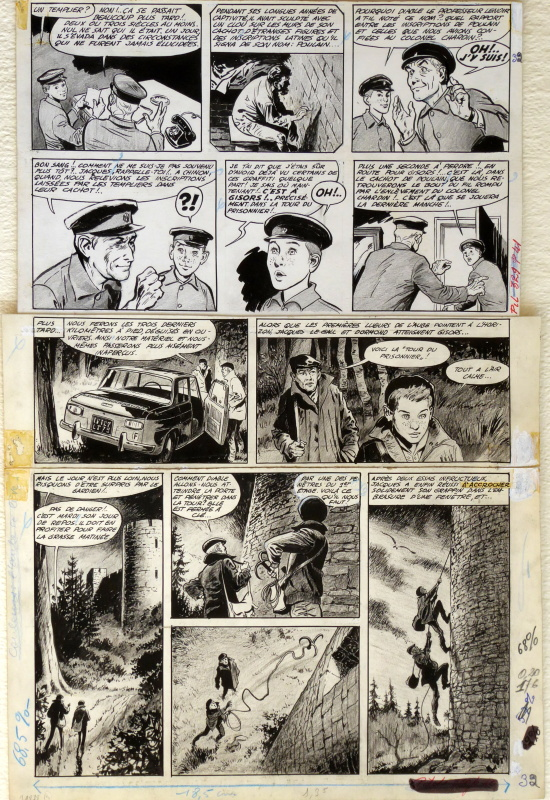 Jacques Le Gall par MiTacq, René Follet, Jean Michel Charlier - Planche originale