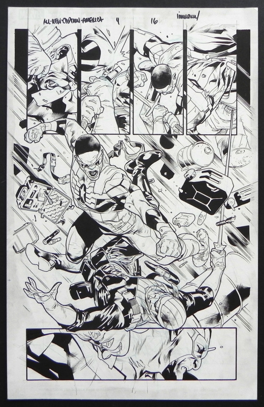 All new captain america #4 p.16 by Stuart Immonen, Wade Von Grawbadger - Comic Strip