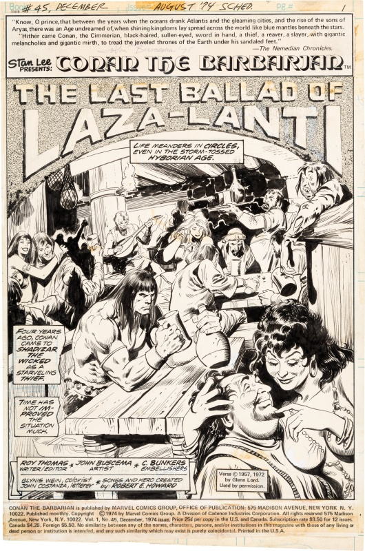 Conan the Barbarian #45 page 1