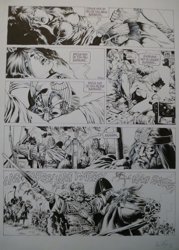 Chroniques Barbares tome 2 planche 8 by Jean-Yves Mitton - Comic Strip