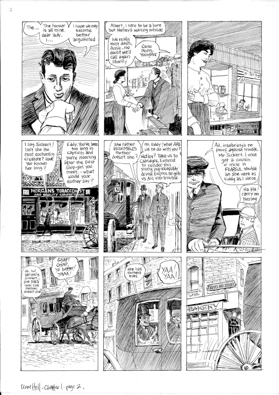 From Hell Ch.1, page 2 by Eddie Campbell, Alan Moore - Comic Strip